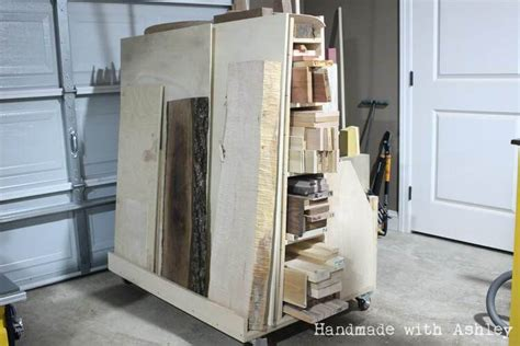diy mobile lumber cart plans  woodworking  mere