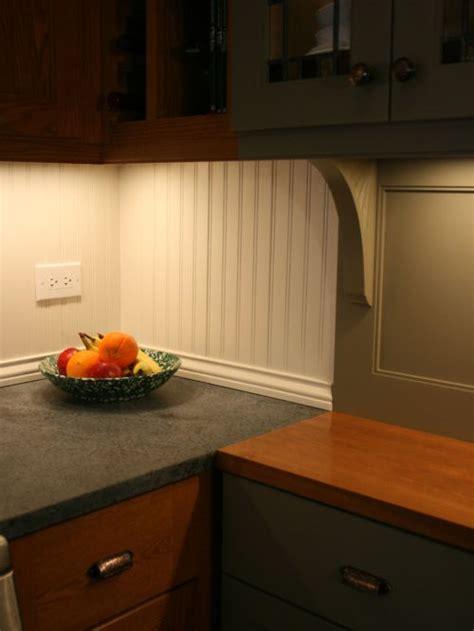 recessed kitchen cabinets beadboard backsplash houzz 1734