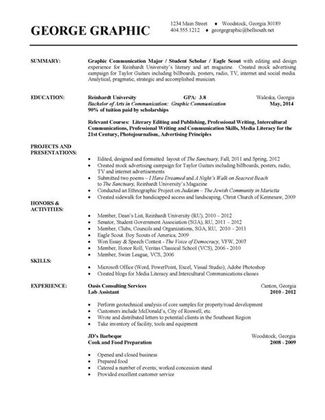 design exles of college resumes resume exle
