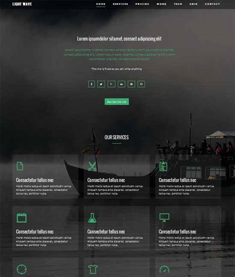 Twitter Bootstrap Html Templates Free Download by 50 Free Responsive Css3 Html5 Website Templates