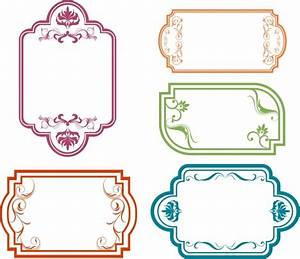 Frames design collection various shapes in colors vectors ...