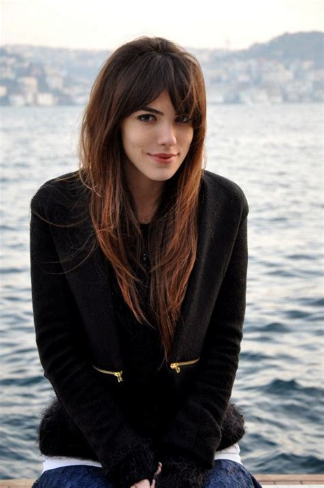 middle part long bangs with lots of layers movement