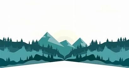 Mountain Vector Silhouette Clipart Range Transparent Landscape
