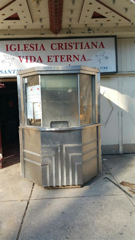 antique art deco  theater ticket booth obnoxious