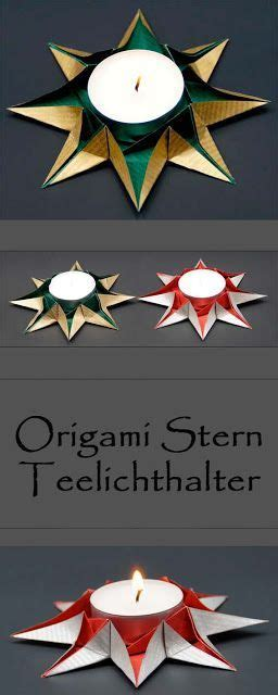 teelichthalter selber basteln weihnachten origami sterne teelichthalter falten zu weihnachten sch 246 ne weihnachtsdeko selber basteln