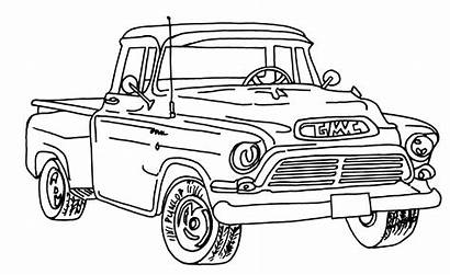 Masculine Coloring Truck Gmc Pages Adults Cards