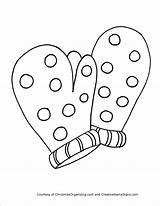 Coloring Pages Mitten Mittens Winter Clothes Scarf Preschool Clipart Drawing Worksheets Printable Colouring Boots Christmas Kindergarten Coat Hat Crafts Decorative sketch template