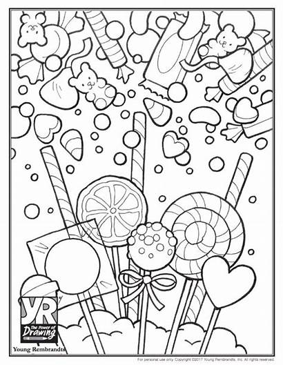 Coloring Candy Pages Sweet Skull Printable Sugar