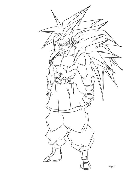 Coloring Foto by Goten Saiyan Coloring Pages And Print For Free