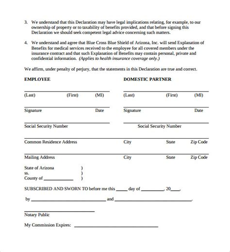 simple partnership agreement template free 13 domestic partnership agreements to sle templates