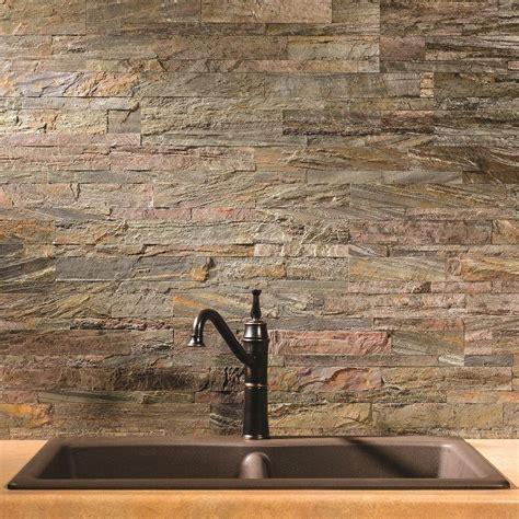 aspect peel  stick stone backsplash    panel