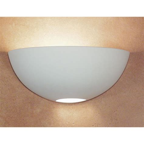 great aegina bisque half moon wall sconce a 19 lighting