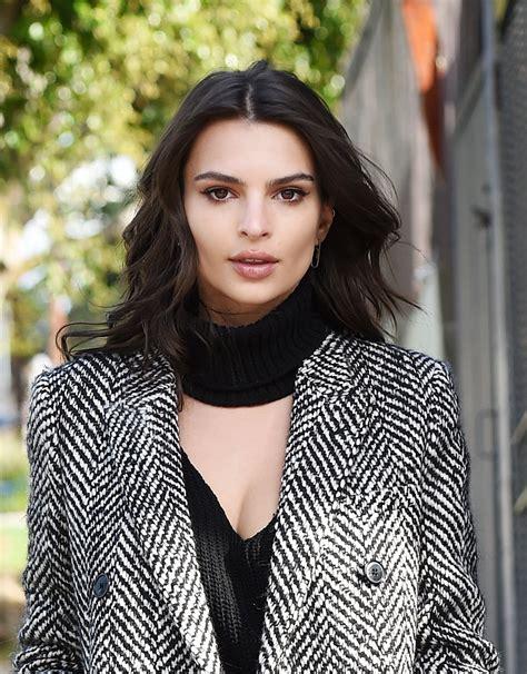 Emily Ratajkowski Looks Stunning in a Gray Coat - Los ...