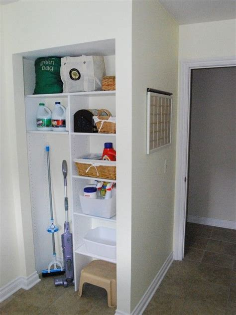 Small Broom Closet Organization Ideas by Small Laundry Room Solutions Design Pictures Remodel