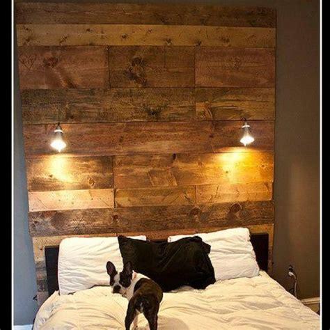 diy headboard  wood  ikea lights diymeubles