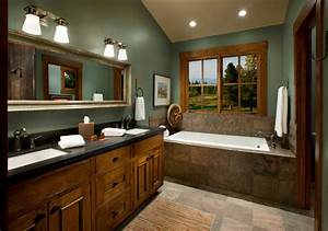 20 bathroom paint designs decorating ideas design for Interior paint colors for rustic homes