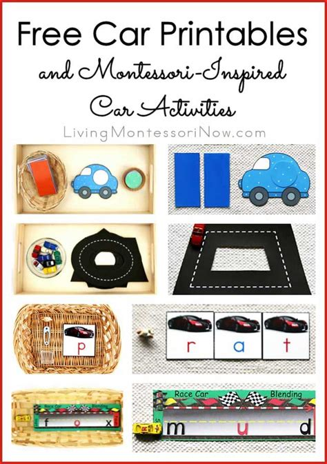 free car printables and montessori inspired car activities 494 | 86d8751c4b7c36336effc3b758f848a4