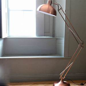 copper angled floor lamp by the forest co With copper anglepoise floor lamp uk