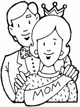 Parents Pages Colouring Coloring Showing Mother sketch template