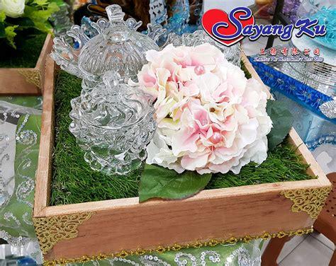 pine wood wedding tray kotak kayu dulang hantaran
