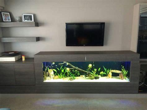 aquarium tv unit dining fish tank aquarium design