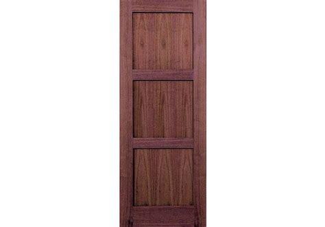 "80"" Walnut 3-panel Shaker Interior Door 1-3/8"""