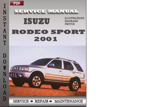 Isuzu Rodeo Sport 2001 Factory Service Repair Manual
