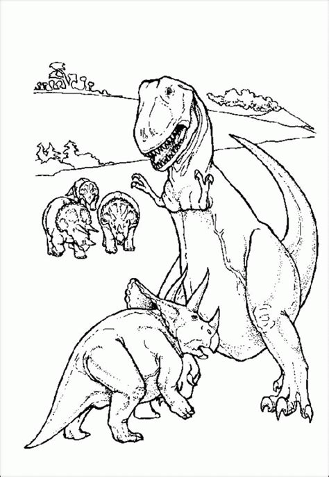 realistic dinosaur coloring pages coloring home