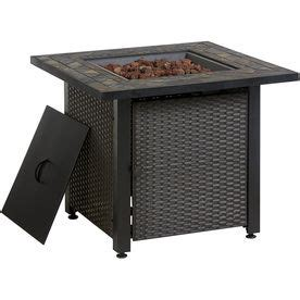 Garden Treasures Gas Patio Heater by Garden Treasures 30 In W 50000 Btu Dark Resin Slate