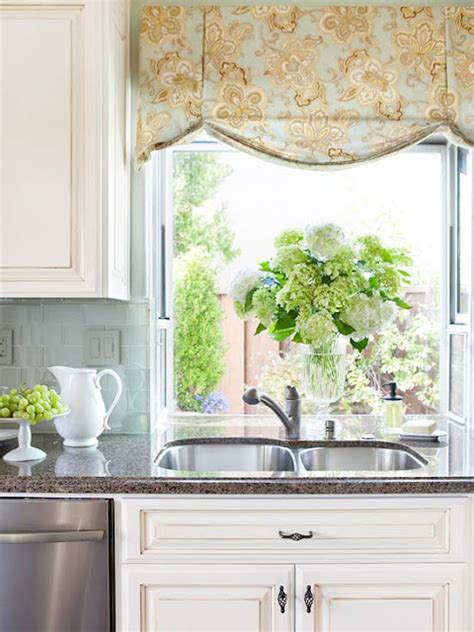For Kitchen Window Treatments by 2014 Kitchen Window Treatments Ideas