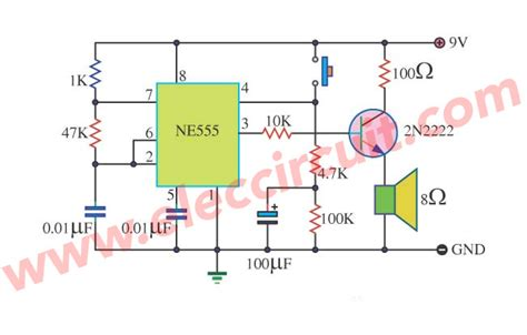 Timer Audio Alarm Circuits Eleccircuit