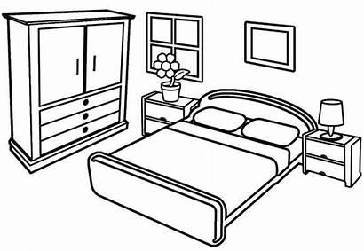 Coloring Bedroom Pages Modern Sheet Children Furniture
