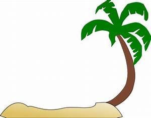 Tropical Beach Palm Tree Clip Art at Clker.com - vector ...