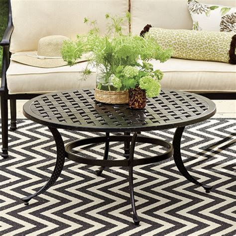 round patio coffee table outdoor round coffee table my blog