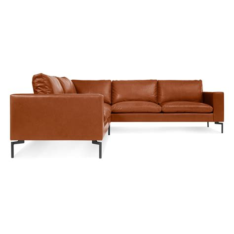 compact leather sectional sofa new standard small leather sectional modern leather sofa