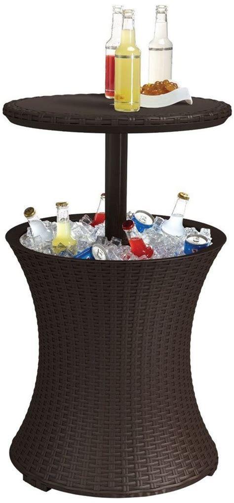patio bar table cooler beverage refrigerator drink cooler bar cocktail pool