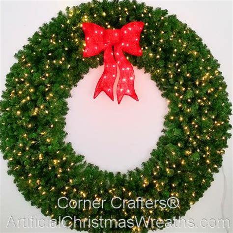 large lighted wreath 6 foot l e d prelit wreath