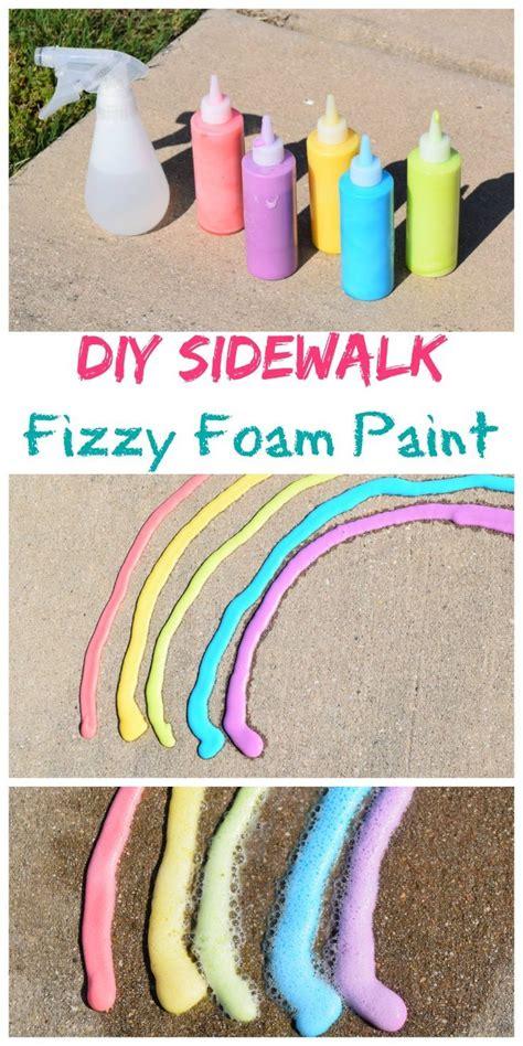 science fun outdoor play diy sidewalk fizzy foam paint