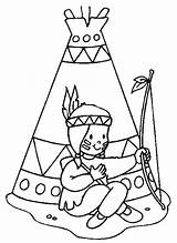 Coloring Pages American Indianer Adult Teepees Indian sketch template