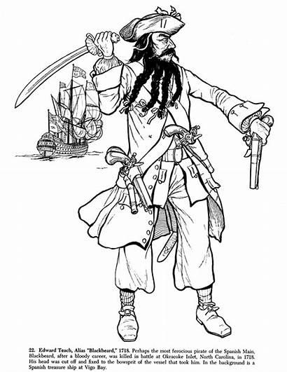 Pirate Coloring Blackbeard Talk Fierce Musings Inkspired