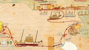 A Child's Map of the Jewish Exodus from Nazi Germany   Big ...