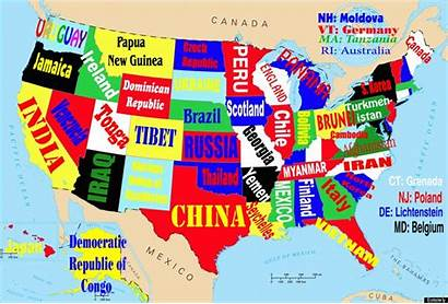States Map State Country United Maps Foreign
