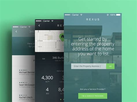 rexus app wip  images mobile web design app