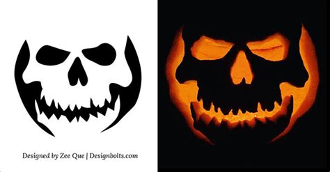 scary pumpkin templates 10 free scary cool pumpkin carving stencils patterns templates ideas 2015