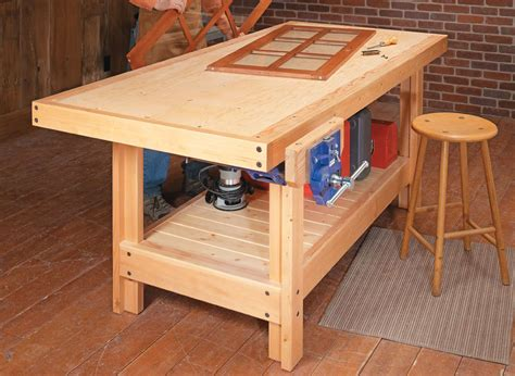 torsion box workbench woodworking project woodsmith plans