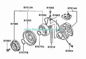 Ac Compressor Assy Mr149367 Mr149366 Mitsubishi Pajero