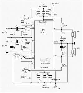 audio amplifier using ic lm4780 circuits pinterest With audio splitter amplifier circuit diagram using tl084 super circuit