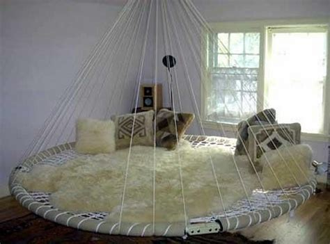 Suspended Hammock Bed by Swing Bed Made From Recycled Troline The Owner
