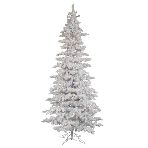 vickerman 25274 9 x 49 quot flocked white slim 550 warm