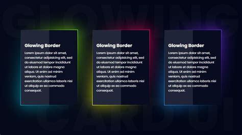 css glowing gradient border card ui design html css